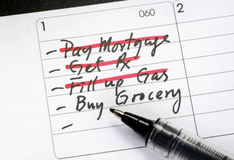 Fill in the to-do list Stock Photo