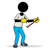 Fill up form. Silhouette-man action icon - filling up a form Royalty Free Stock Image