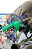 Fill up fuel at gas station Stock Image