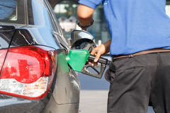 Fill up fuel at gas station Stock Photography