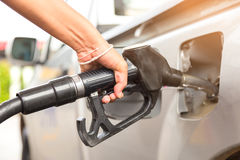 Fill up fuel at gas station Stock Photo
