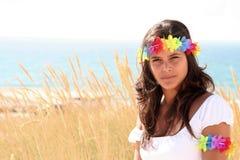 Fille à la plage Images libres de droits