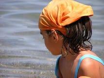 Fille à la plage Image libre de droits