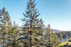 Fille à la roche de carrière à Vancouver du nord, AVANT JÉSUS CHRIST, Canada Images stock