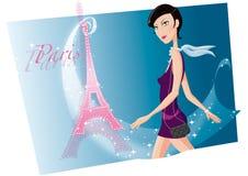 Fille à Paris Photographie stock libre de droits