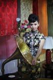 Fille 2011 sexy chinoise d'exposition de la CHINE P&E Photos libres de droits