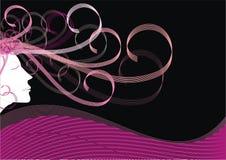 Fille abstraite d'imagination dans le rose Photo stock