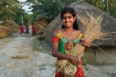 Fille adolescente en Inde Image libre de droits