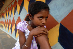 Fille adolescente en Inde Photo stock