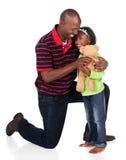 Fille africaine mignonne Images libres de droits