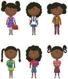 Fille afro-américaine d'école Photographie stock libre de droits