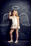 fille angélique Image libre de droits