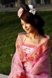 fille antique de robe de Chinois Images stock