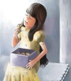 Fille appréciant des bonbons Photo libre de droits