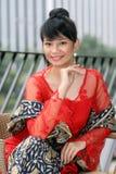 Fille asiatique attirante Photo stock