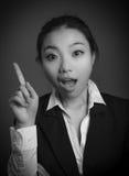 Fille asiatique attirante en ses années '20 d'isolement dessus Image libre de droits