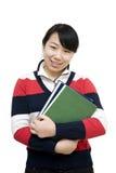Fille asiatique d'étudiant Images libres de droits