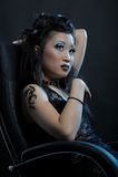 Fille asiatique gothique Photo stock