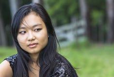 Fille asiatique mignonne image libre de droits