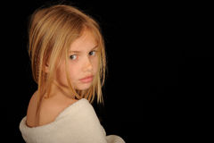 Fille assez blonde Images stock
