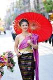 Fille assez thaïe Image stock