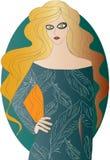 fille aux cheveux d'or Image libre de droits