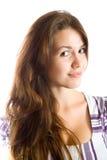 Fille aux cheveux longs de Brunette Images libres de droits