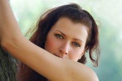 Fille aux yeux bleus Photo libre de droits