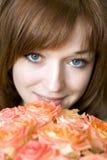 Fille aux yeux bleus Images stock