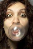 Fille avec Bubblegum Images libres de droits