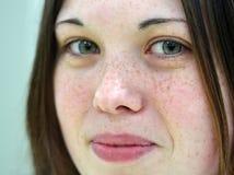 Fille avec de beaux yeux verts Photo libre de droits