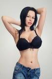 Fille avec de grands seins Photographie stock libre de droits