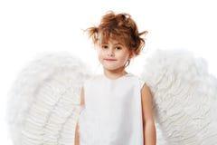 Fille avec des ailes Photo stock
