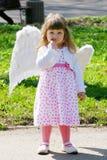 Fille avec des ailes Image stock