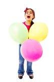 Fille avec des ballons Images libres de droits