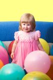 Fille avec des ballons image libre de droits