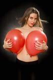 Fille avec des ballons Photographie stock