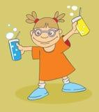 fille avec des boissons Photographie stock libre de droits