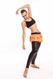 Fille avec des danses de maquillage de clown Photo stock