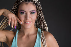 Fille avec des dreadlocks photo libre de droits