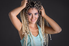 Fille avec des dreadlocks photos stock