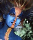 Fille avec des œil bleu Photo stock