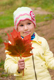 Fille avec des lames Image stock