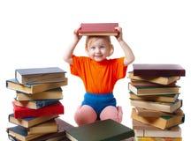 Fille avec des livres Photographie stock libre de droits
