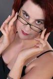 Fille avec des lunettes Images libres de droits