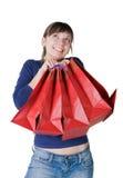 Fille avec des sacs photos stock