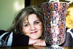 Fille avec des vases Photographie stock libre de droits