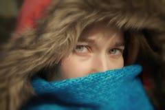 Fille avec des yeux bleus Photo libre de droits