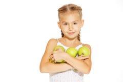 Fille avec du charme avec une pomme Images libres de droits