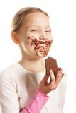 Fille avec du chocolat Photo libre de droits